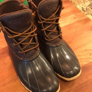 Sperry Duck Boots Rain Boots Rubber soles size 10